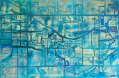 "Fruita Irrigation Canals 24"" x 36"" Acrylic on Panel"
